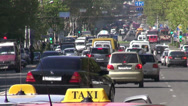 Stock Video Footage of Traffic in Yerevan, Armenia