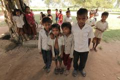 Cambodian Children Stock Photos
