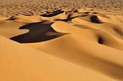 Algeria, View of sand dunes at Erg Tihoulahoun - stock photo
