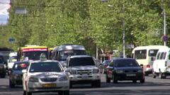 Yerevan traffic, Armenia Stock Footage