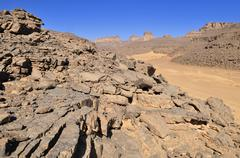 Algeria, Wadi In Djerane at Tassili n Ajjer National Park - stock photo