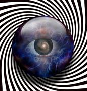 eye galaxy spiral - stock illustration