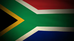 Flag South Africa 04 Stock Footage