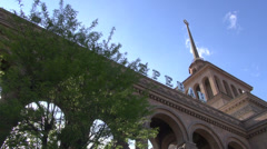 Train station Yerevan Stock Footage