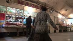 Underground marketplace in Yerevan, Armenia, Soviet Union Stock Footage