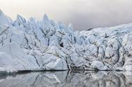 Stock Photo of USA, Alaska, View of Matanuska Glacier mouth and Glacial Lake