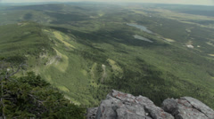 Alberta Valley from Mountain Top Stock Footage