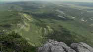 Stock Video Footage of Alberta Valley from Mountain Top