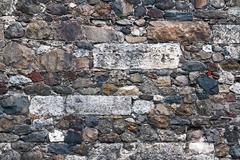 Amalgamated Stone Wall - stock photo