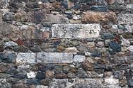 Stock Photo of Amalgamated Stone Wall