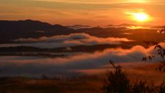 Amazing Time Lapse of Sunrise Over Mountains Stock Footage