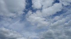 Time Lapse of Clouds Forming Stock Footage
