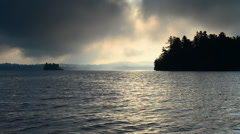 Beautiful Sunrise on the Lake - Upper Saranac, Adirondacks Stock Footage