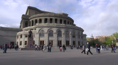 Opera Square, downtown Yerevan, capital city of Armenia Stock Footage