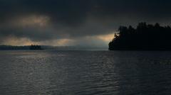 Morning Sunrise over the Lake - Upper Saranac Lake Stock Footage
