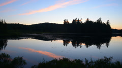 Sunset in the Adirondacks Stock Footage