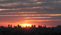 Sunrise - City View - Big City Stock Footage