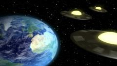 Space Aliens Visit Earth Stock Footage