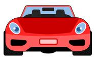 Stock Illustration of red car front view