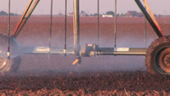 Stock Video Footage of Center pivot working 1