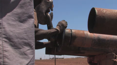 Drill for water in Texas 2 Stock Footage