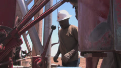 Drill for water in Texas 1 Stock Footage