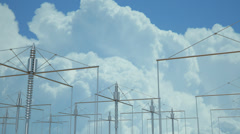 Harp government array radio towers - stock footage
