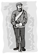 Civil war soldier Stock Illustration