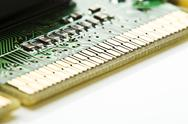 Stock Photo of Close up of computer graphic board on white background