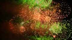 Holiday fireworks Stock Footage