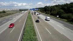 German highway A5 Stock Footage