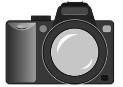 Vector still camera Stock Illustration