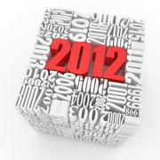 new year 2012. cube consisting of the numbers. 3d - stock illustration