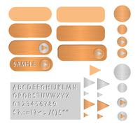 Stock Illustration of vector buttons polished copper