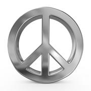 Peace sign on white isolated background. 3d Stock Illustration