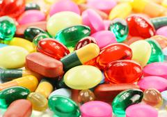 Stock Photo of dietary supplement capsules and drug pills