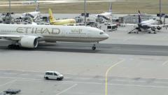 Etihad Airlines Stock Footage