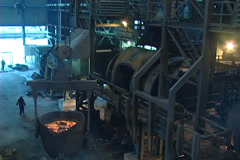 Heavy Industry Processing Plant pollution NTSC Stock Footage