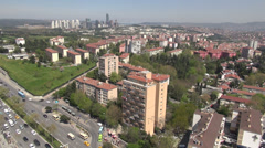 Istanbul city, suburbs and 'CBD' Stock Footage