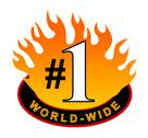 Stock Illustration of world-wide #1 icon.