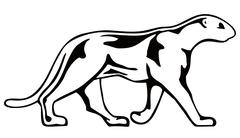 Panther walking Stock Illustration