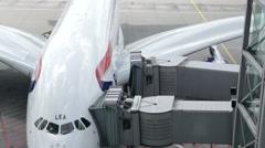 British Airways Airbus A380 Stock Footage