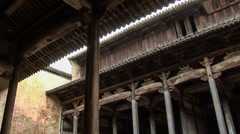 Low angle view of Chinese ancient house . Stock Footage