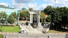 Emperor Alexander II Monument Stock Footage