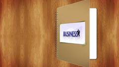 06 business book cover greenscreen Stock Footage