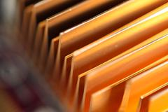 passive computer cooling made of copper - stock photo