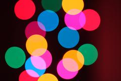 Abstract background of colorful bokeh circles Stock Photos