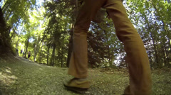 Fisheye walking up Höllentalklamm Hollentalklamm Gorge Grainau Hammersbach Stock Footage
