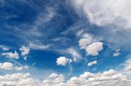 Stock Photo of blue cloudy skyscape