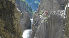 Höllentalklamm Hollentalklamm Gorge Grainau Hammersbach Garmisch-Partenkirchen Stock Footage